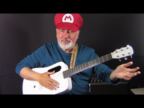 Super Mario on a CARBON guitar! How does it sound?