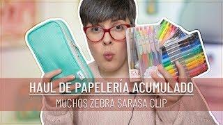 HAUL DE PAPELERÍA | Nuevos ZEBRA SARASA CLIP | Locura con las LIBRETAS