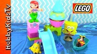 Lego Ariel Little Mermaid Spongebob Captain Hook Toy Review Box Open Duplo 105150 By Hobbykidstv