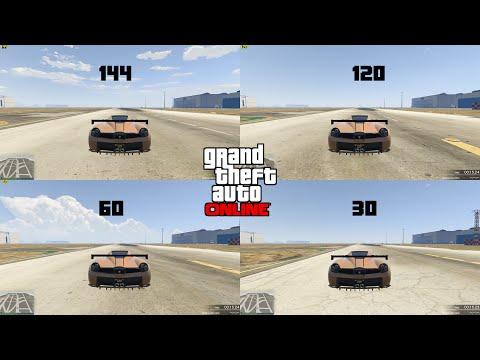 GTA V: 30 vs 60 vs 120 vs 144 FPS CAR SPEED RACE (HIGHER FPS gives you a racing advantage)
