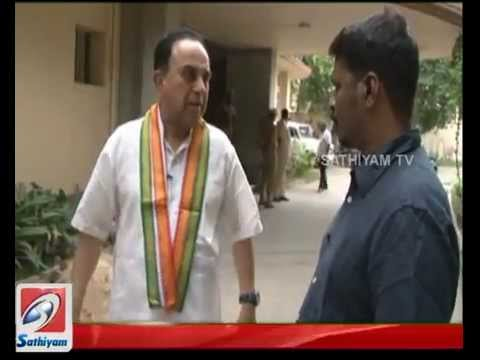 Subramanian Swamy interview on Sathiyam Tv
