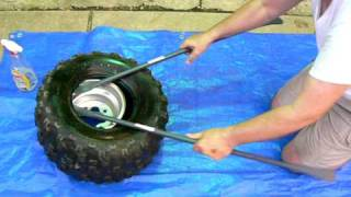How to remove ATV tire from wheel.MOV