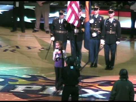 Phoenix Suns Jan. 2009. Laurel Freeman, Age 10, si...
