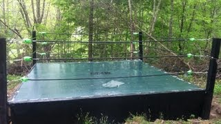 How to make a Backyard wrestling ring part 1