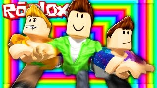 Roblox Adventures - RUN THROUGH A RAINBOW TUNNEL! (Speed Run: Adventure Continues)