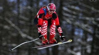 Janica Kostelic Wins Downhill Alpine Skiing Gold - Torino 2006 Winter Olympics