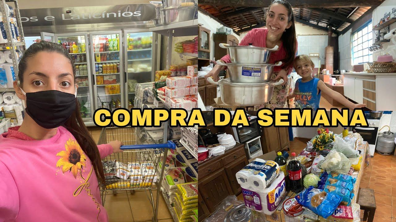 COMPREI PANELAS NOVAS + COMPRA DA SEMANA em PRATINHA MG