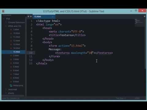 HTML And CSS Tutorial 15: Textarea