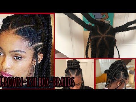 Grown~ish // YARA  Shahidi Jumbo Box Braids// Rubber Band Method