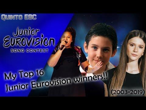 My Top 16 Junior Eurovision Winners (2003-2018) - Quinto ESC