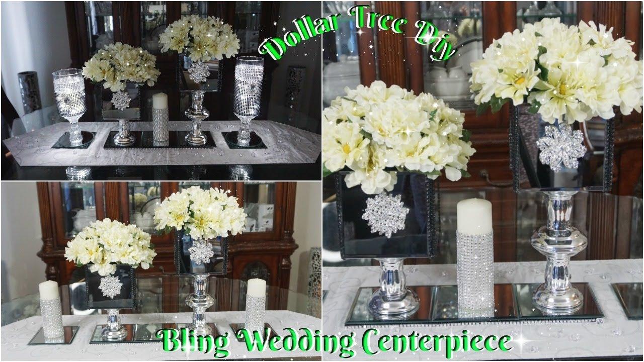 Youtube Wedding Ideas: DIY DOLLAR TREE BLING WEDDING CENTERPIECE DECOR IDEAS 2019