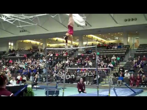 SPU GYMNASTICS: Maria Hundley bars final (Apr. 10, 2016)