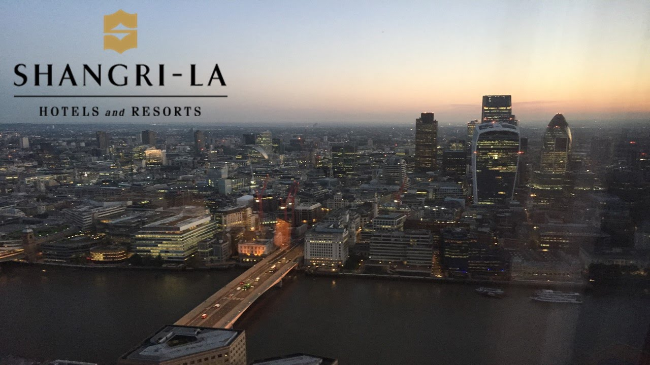 London Shangri La Hotel Shard View Time Lapse From Room Sunset Night Dawn Day
