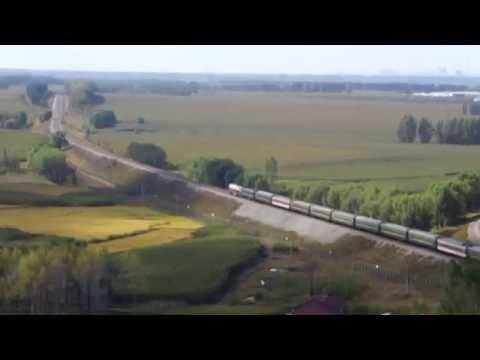 China railway:Passenger train 1882  leaving Dongjin station