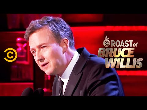 Edward Norton on a Fateful Letter from Bruce - Roast of Bruce Willis - Uncensored