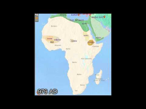 Africa Map Timeline (3500 BC - 2005 AD)