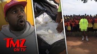 Kim & Kanye Storm Uganda With Yeezys | TMZ TV