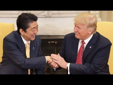 Thumbnail: Trump shakes Japanese PM's hand for 19 seconds