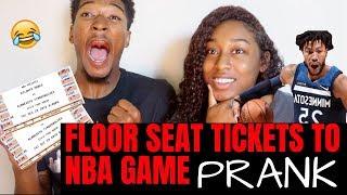 FLOOR SEAT TICKETS TO NBA GAME PRANK!!! *hilarious*