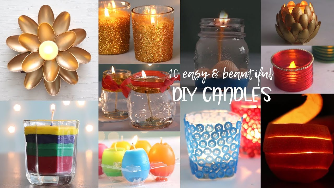 10 Easy and Beautiful DIY Candles   Useful things   Compilation