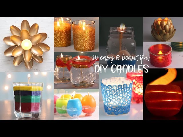 10 Easy and Beautiful DIY Candles | Useful things | Compilation