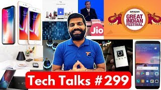 Tech Talks #299 - Gionee X1S Selfie, Jio Boost, Big Billion Day, Apple Pay, Pi Charging, iPhone X