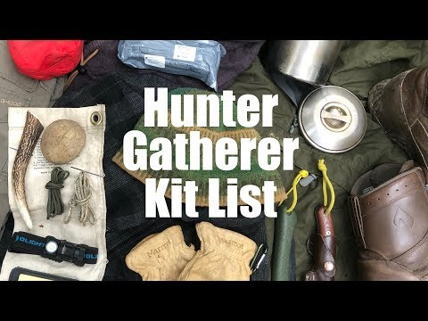 Kit List And Clothing Load-out For The Hunter Gatherer Primitive Survival Challenge.
