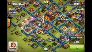 Clash of Clans - Top players Gowiwi attack on a full maxed th 10 base