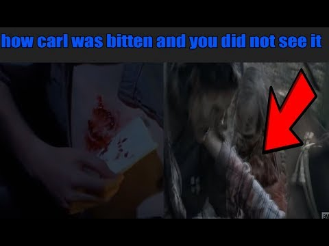 The Walking Dead - How Carl was bitten and you did not see it