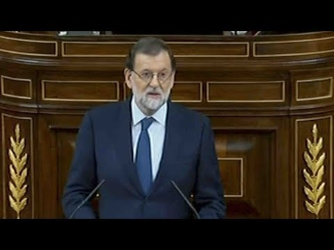 Spanish PM Mariano Rajoy addresses parliament