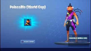 "HOW TO THE SKIN ""POISCAILLE WORD CUP"" STYLE 4 FREE on FORTNITE! (Season 9)"