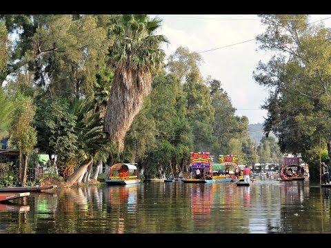 xochimilco les jardins sur l 39 eau mexico mexique youtube. Black Bedroom Furniture Sets. Home Design Ideas