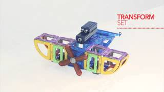 Magformers Магформерс Магнитный конструктор Magformers Transform Set с 3 лет артикул 63089(, 2014-04-24T08:08:42.000Z)