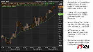 Forex News: 10/03/2017 - Dollar climbs above 115 yen ahead of NFP