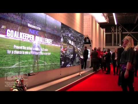 ISE 2015: Elyse Experiences DOOHapps Soccer Game on Interactive Video Wall in NEC Stand