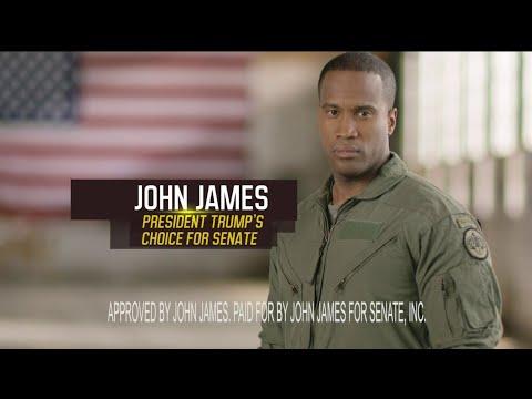 John James - Michigan political ad - U.S. Senate 2018 - Trump endorses James