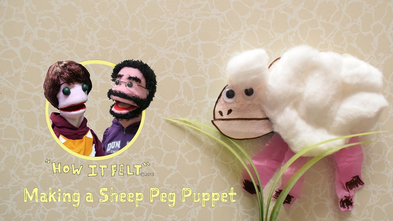 Fuzzy Finger Crafts: Make a sheep peg puppet