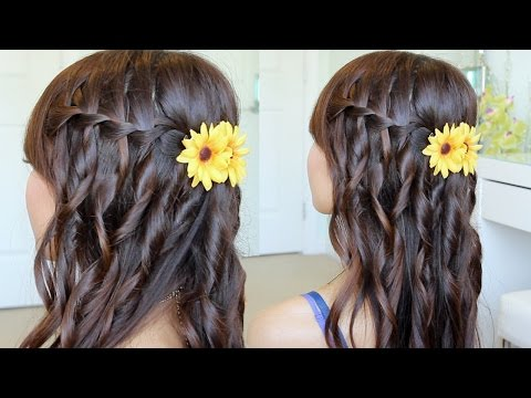 Hair Tutorial: Waterfall Braid Hairstyle On Yourself