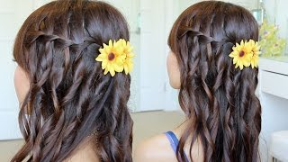 Waterfall Braid Hairstyle On Yourself | Hair Tutorial Thumbnail