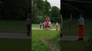Almanyada ambulans helikopter inişi
