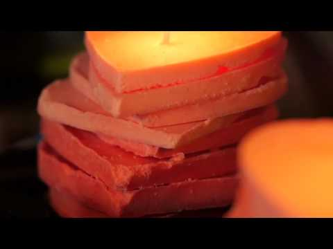 Stacked Ombre Heart Candles