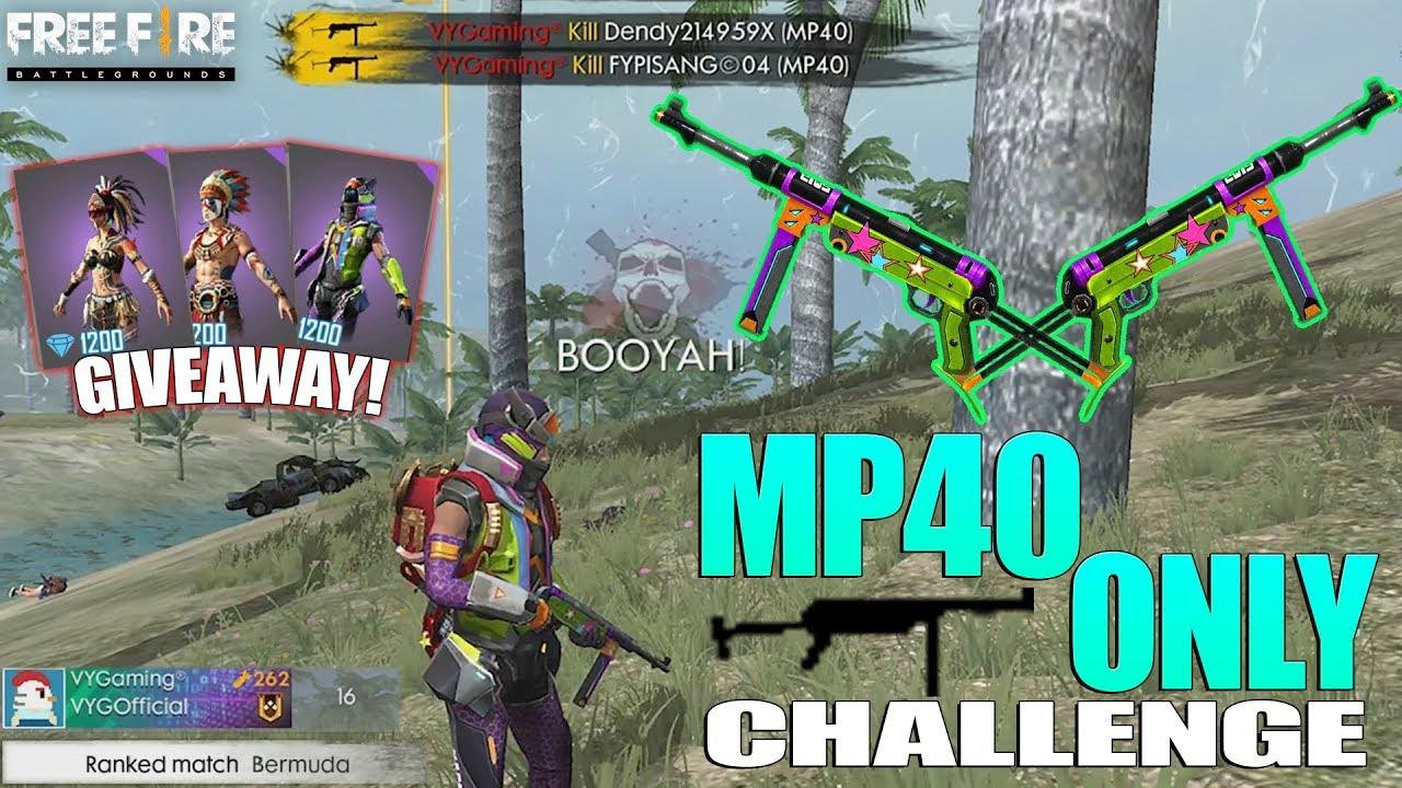 CHALLENGE DOUBLE MP40! SOLO VS DUO - RATAKAN SEMUA DENGAN SENJATA DEWA - FREE FIRE INDONESIA