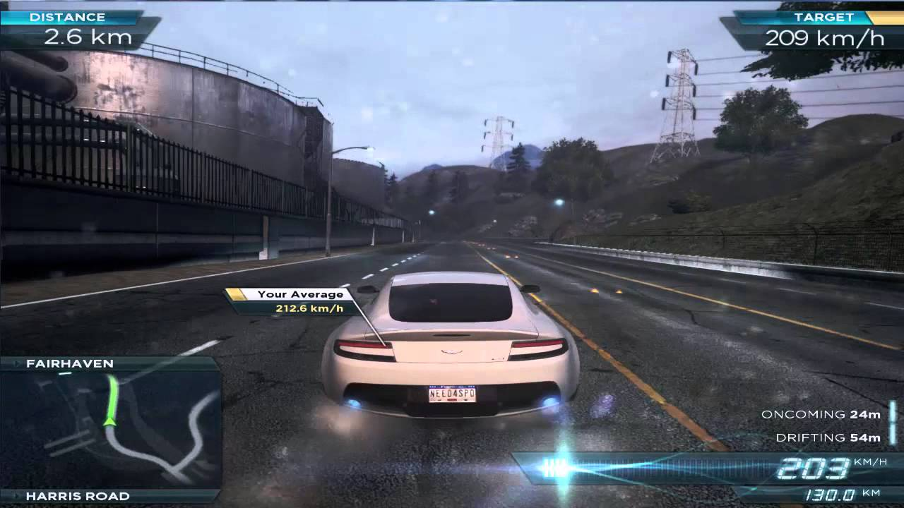 Need For Speed Most Wanted 2012 Aston Martin V12 Vantage Gameplay