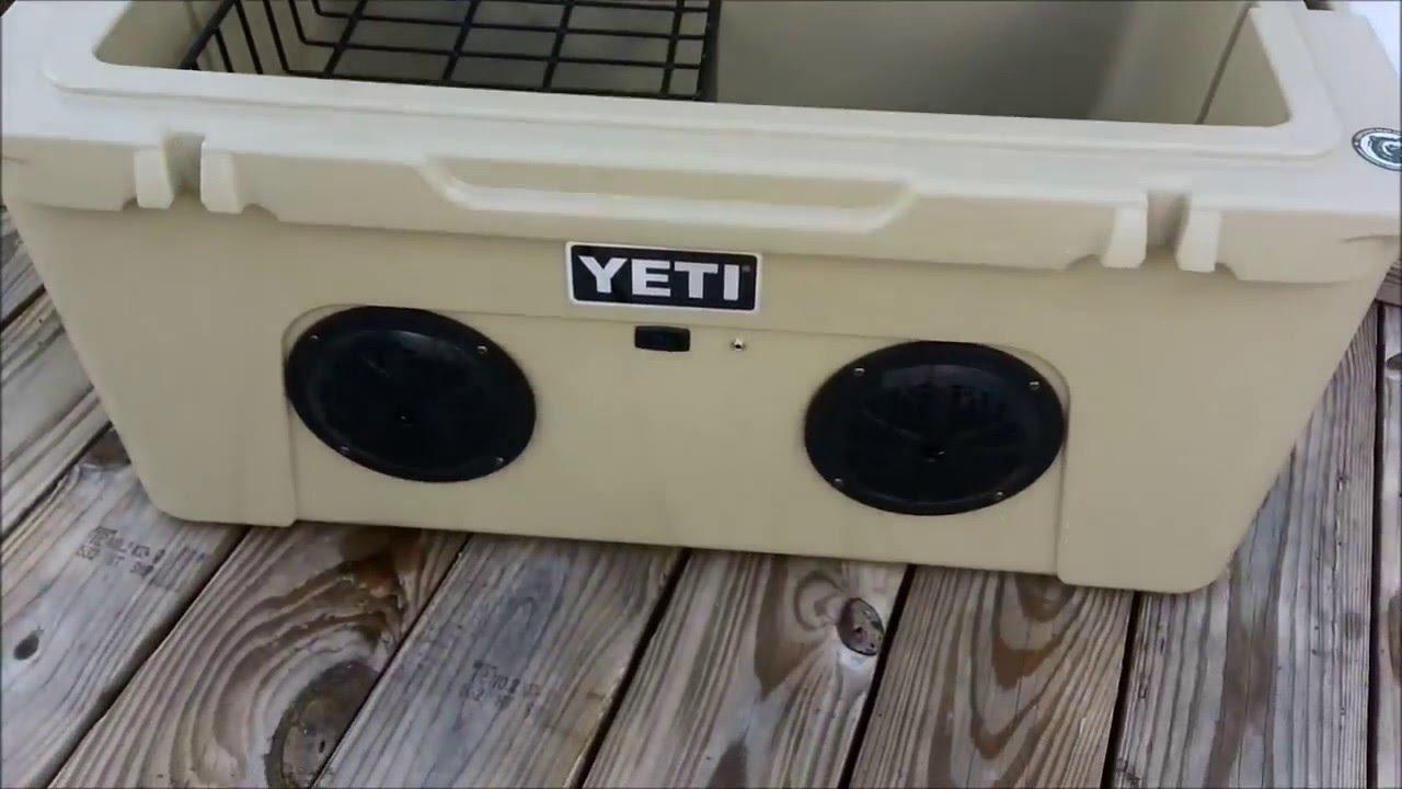Yeti Tundra 65 Stereo Cooler Stock Inside Youtube