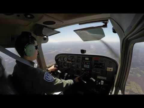 Student Pilot Solo Flight - Practicing Flight Maneuvers