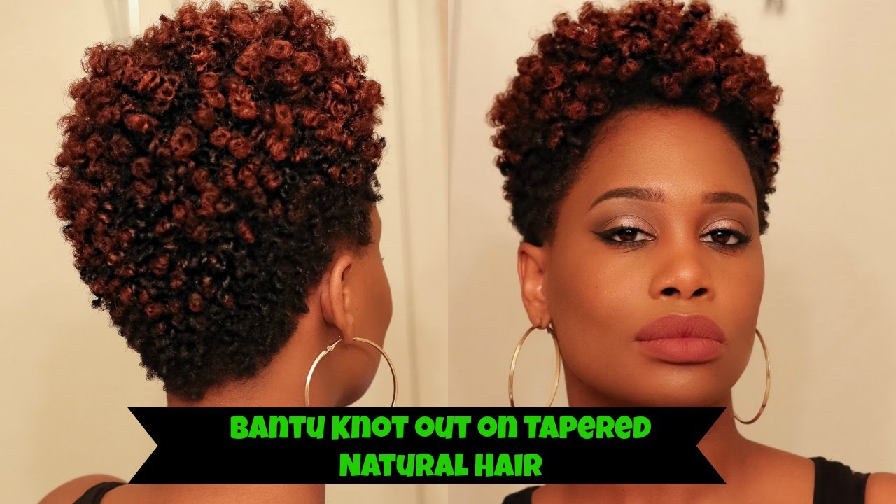 Bantu Knot Out On Tapered Natural Hair How To Misskenk