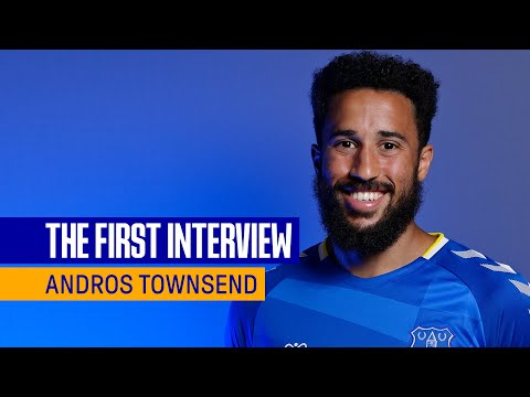 ANDROS TOWNSEND SIGNS FOR EVERTON | FIRST INTERVIEW WITH NEW BLUES WINGER