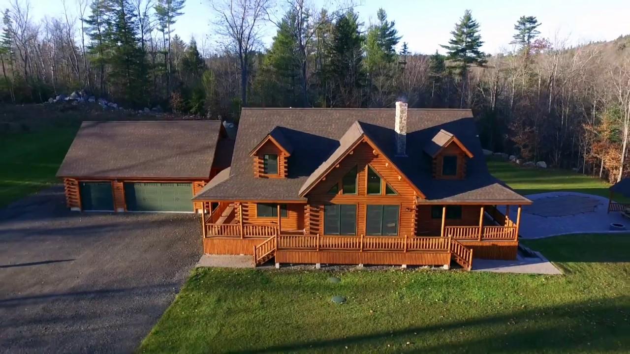 New Hampshire Bonanza Log Home Tour Youtube