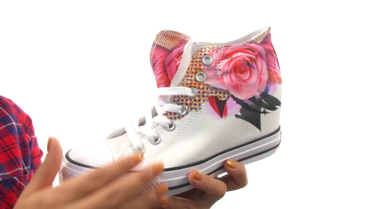 beef1c23d607 Converse Chuck Taylor® All Star® Lux Digital Floral Print Mid SKU 8709804