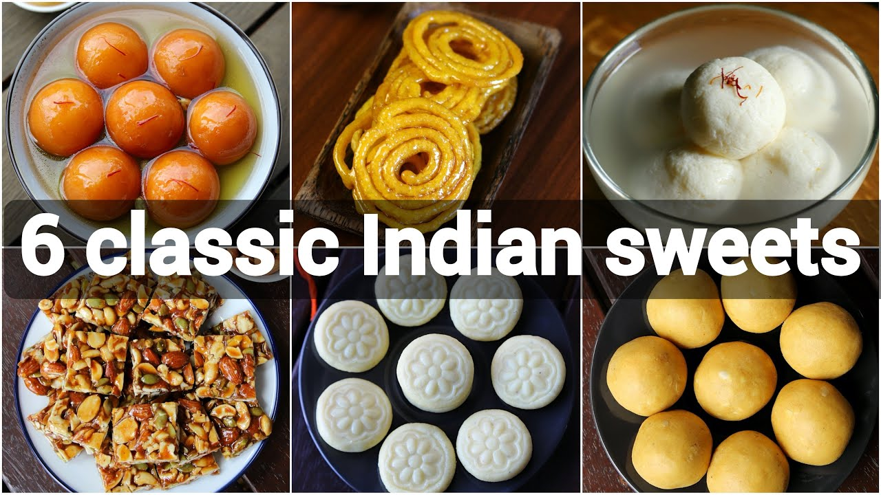 6 Quick Easy Indian Sweets Recipes Classic Indian Desserts Indian Festival Sweets Recipes Youtube